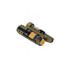 Műszerfal világítás LED  piros 3 SMD T5