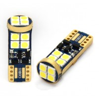 LED fehér 12 SMD Canbus BAX9s