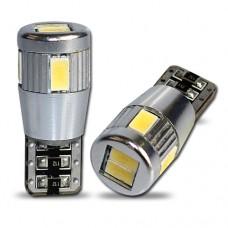 6 LED SMD Canbus fémházas (fehér, w5w)