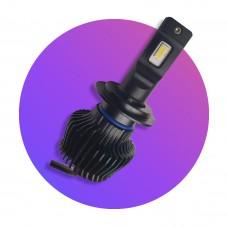 9G mini ventillátor nélküli H7 25W LED főfényforrás