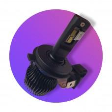 9G mini ventillátor nélküli 25W H4 LED Főfényforrás